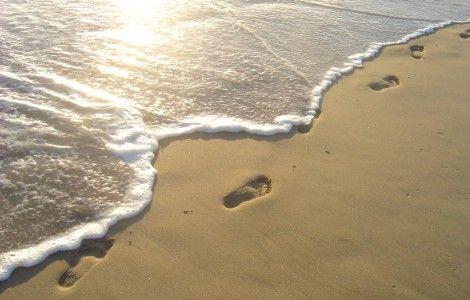 Pisadas en la arena