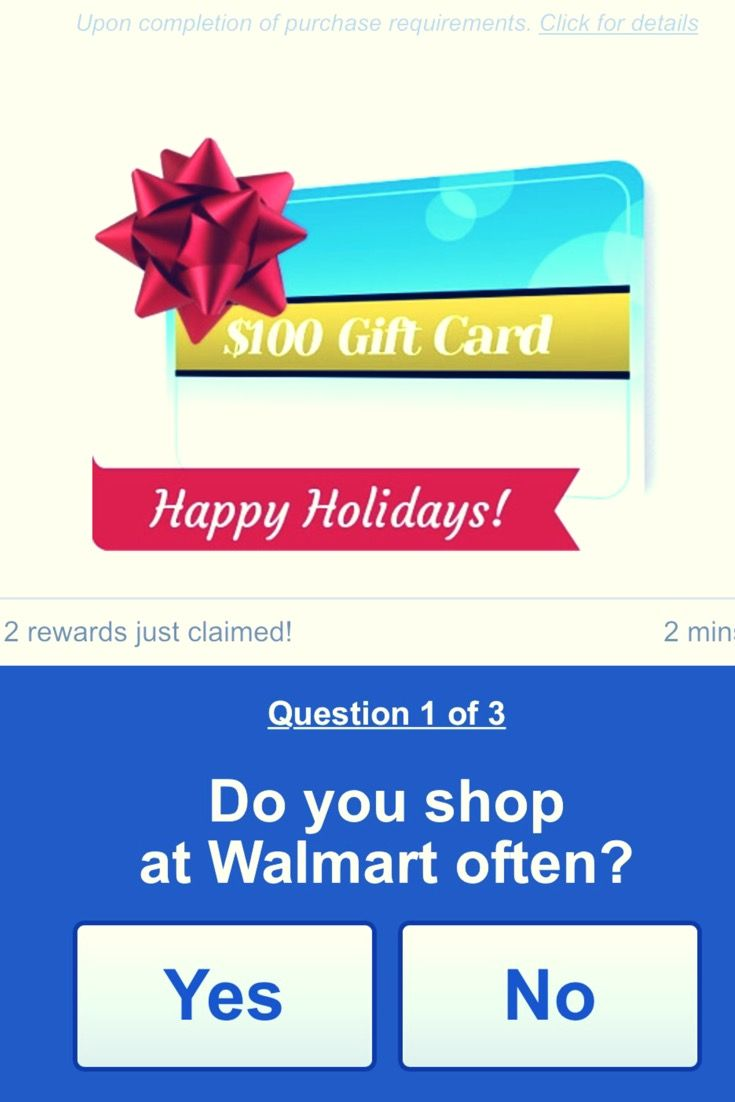 Free walmart gift cards if you click now walmart gift