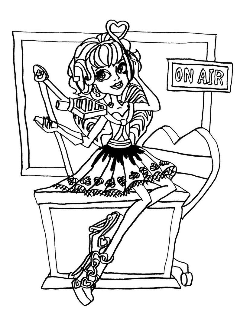 ca cupid monster high coloring page  monster high