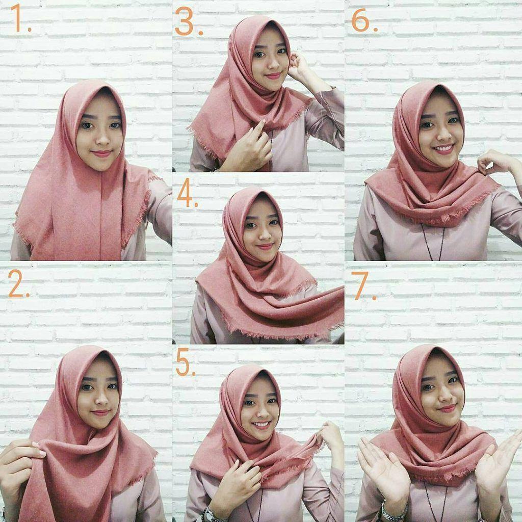 Tutorial Hijab Pashmina Lebar