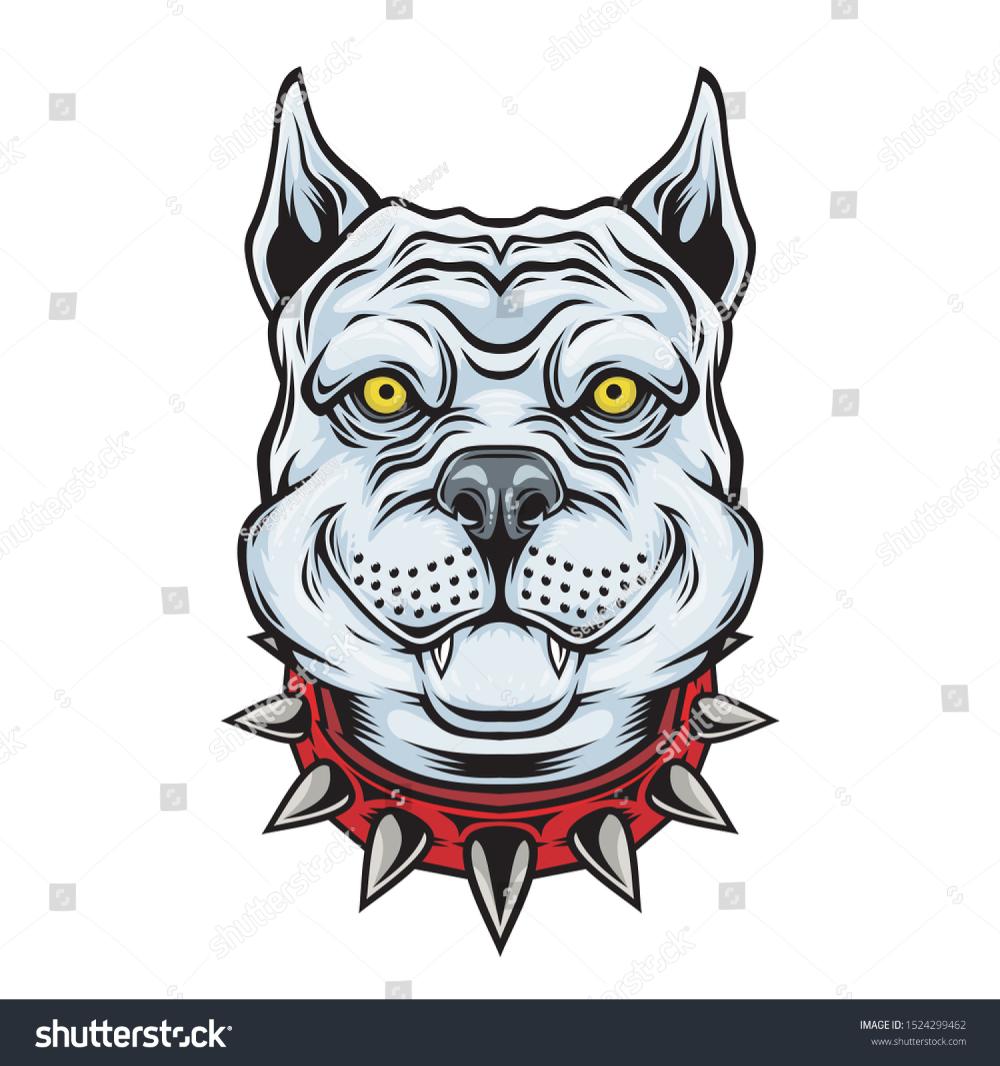 American Pitbull Terrier Dog Head Vector Stock Vector Royalty Free 1524299462 American Pitbull Terrier Pitbull Terrier American Pitbull