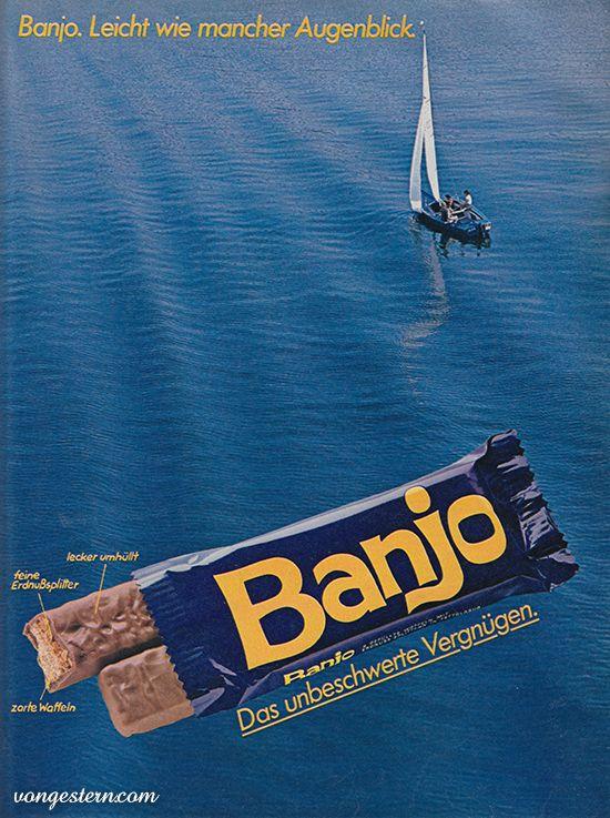 Banjo Schokoriegel Kindheitserinnerungen Kindheit Banjo