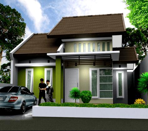 contoh kombinasi cat rumah minimalis warna hijau   house