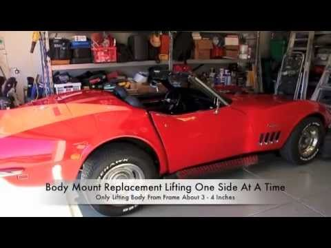 How To Install Car Auto Body Mounts On A C3 Corvette By Hopkins In 2020 Auto Body Corvette Body