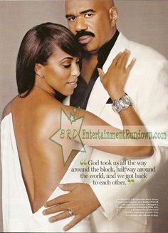 Steve Harvey And Wife Marjorie With Complimenting Suits Description From I