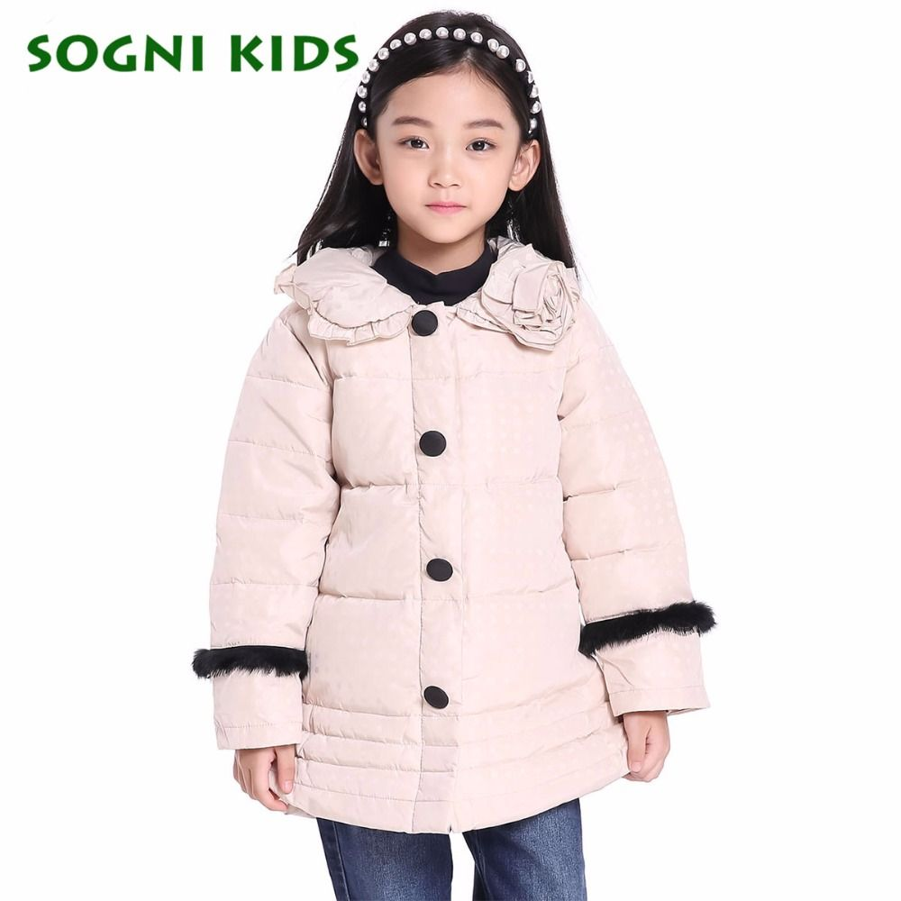 Click to buy ucuc sogni kids girls down jacket fashion long section