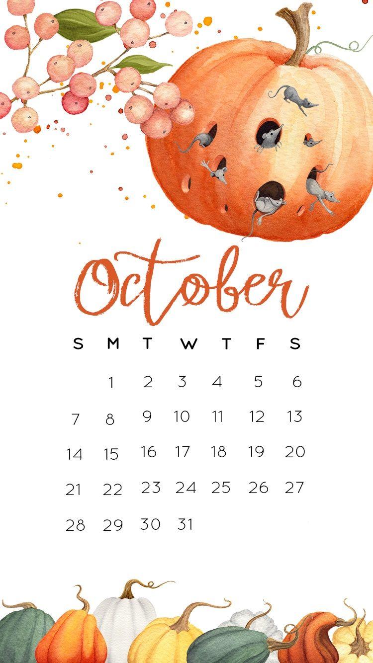 Halloween Wallpapers 2018 Monthly Calendar Templates In