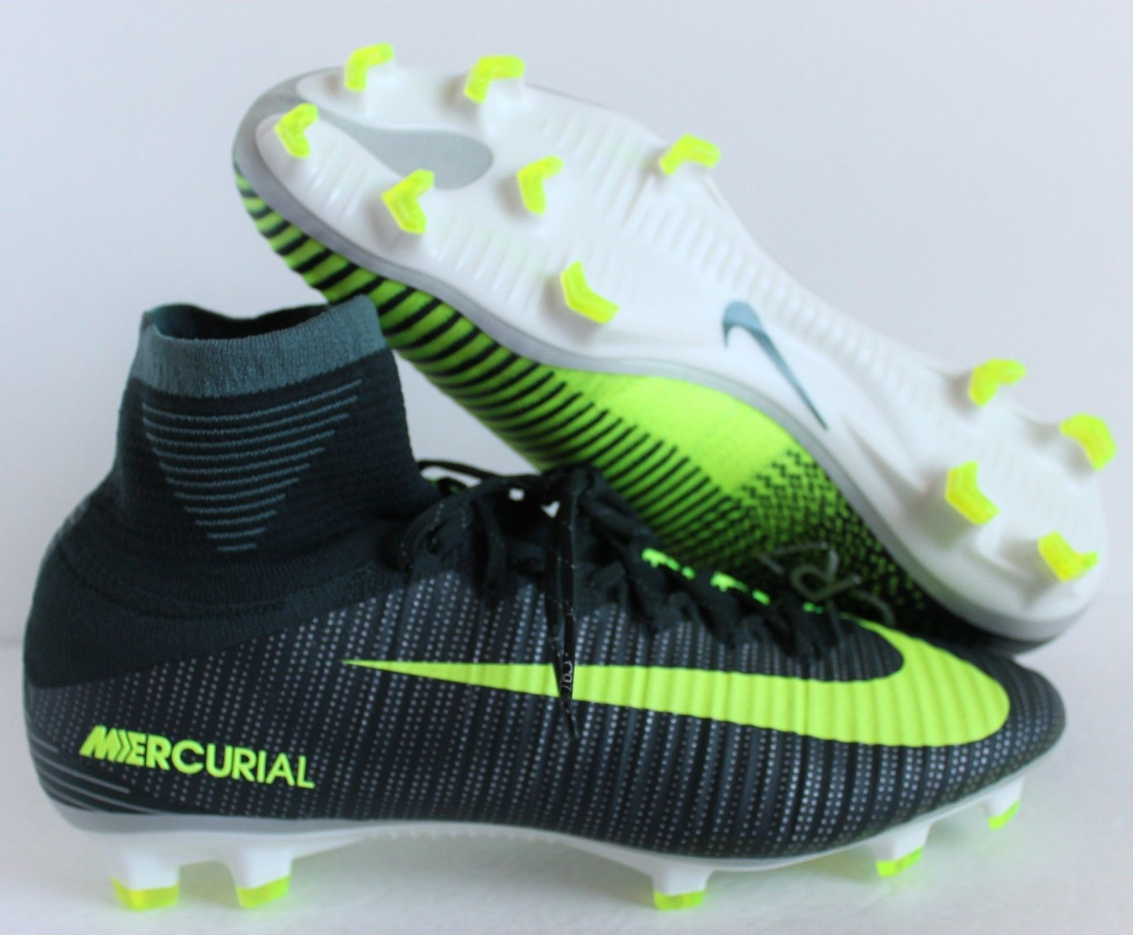 NIKE MERCURIAL SUPERFLY V CR7 FG SEAWEED-VOLT-HASTA-WHITE SZ 9.5 [852511-376]