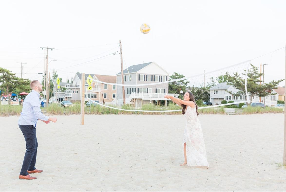 Beach Engagement Session Lavalette Nj Megan Bobby Beach Engagement Engagement Session Nj Wedding Photographer