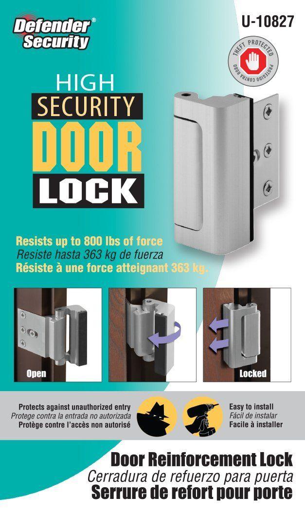 Prime Line Products U 10827 Door Reinforcement Lock 3 In Stop