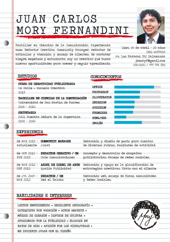 Que Te Parece El Cv De Juan Carlos Visual Resume Job Hunting Resume