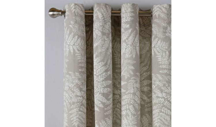 Buy Argos Home Fern Leaf Lined Eyelet Curtains Grey Curtains Argos Grey Curtains Argos Home Curtains