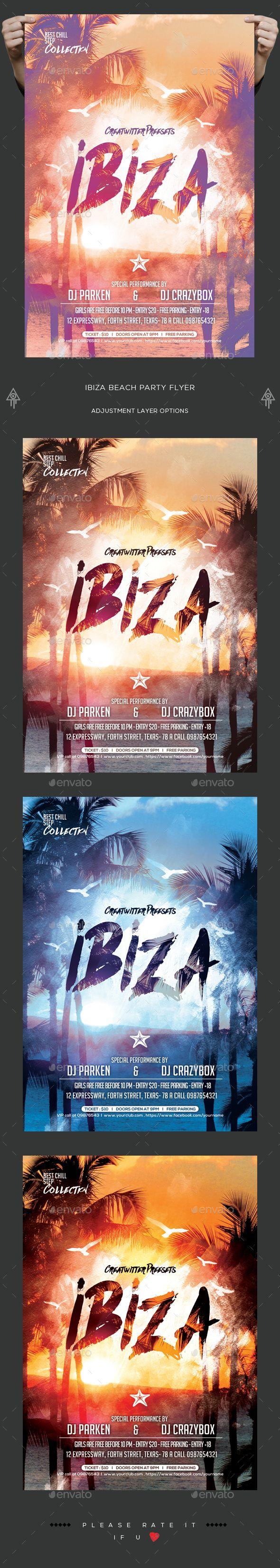 Ibiza Beach Party Flyer | Plakate