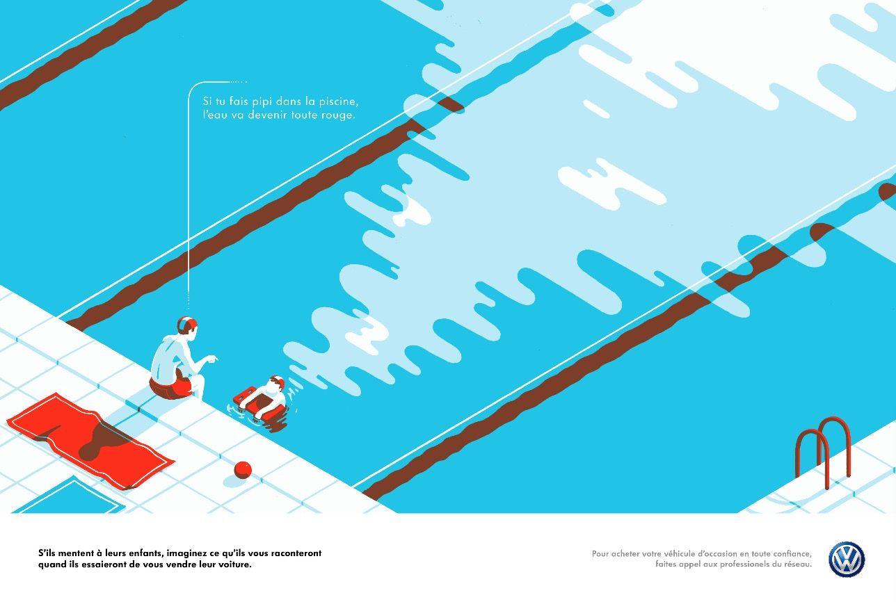 Volkswagen Ads Prints by Tom Haugomat5 – Fubiz™