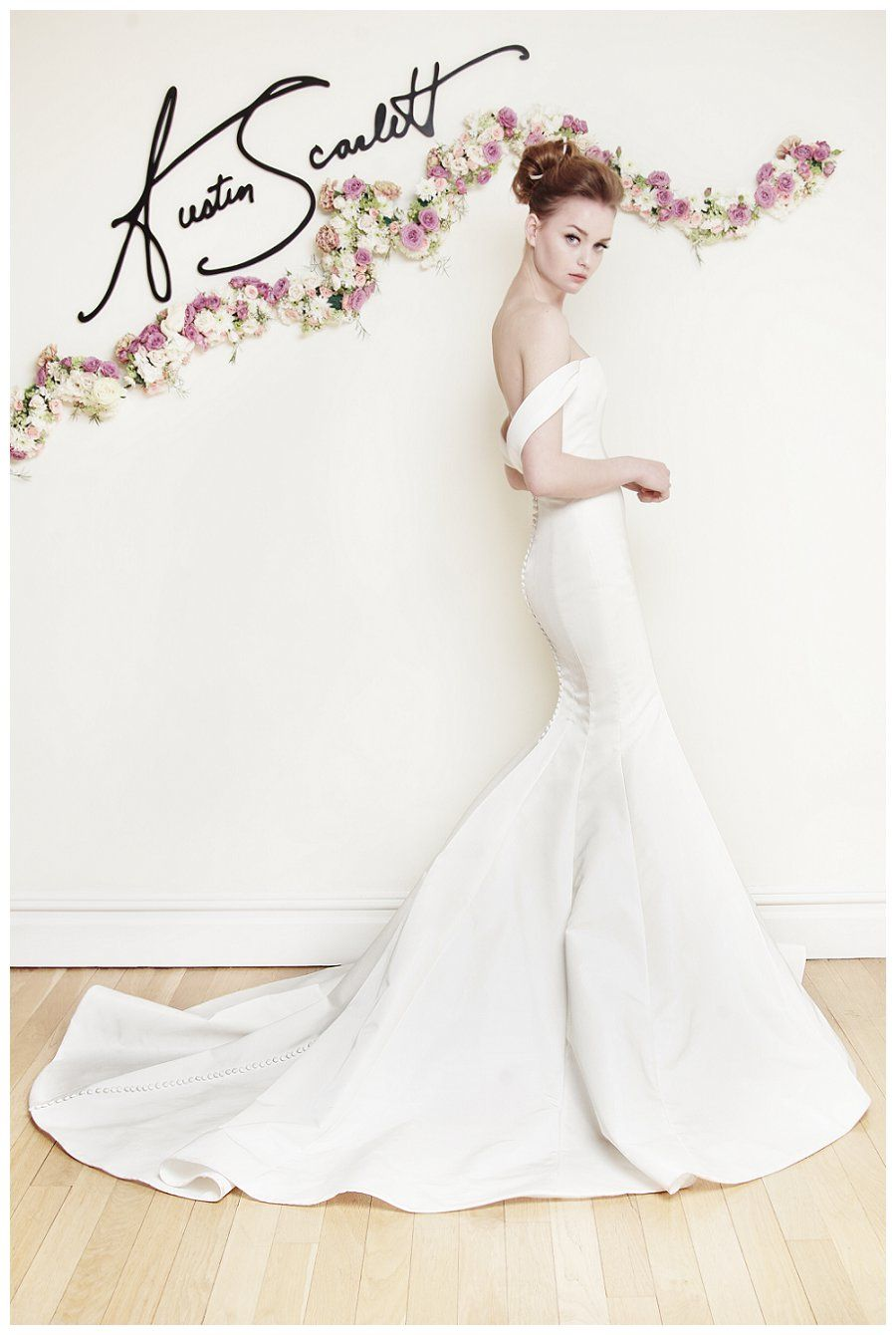 Wedding dress from the Austin Scarlett Spring 2016 Bridal Collection.