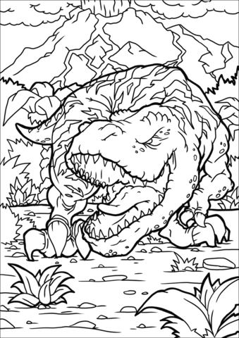 Tyrannosaurus Coloring Page For The Grandsons And Daugthers