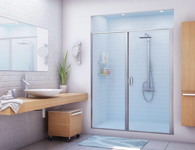 Bathroom Stalls With Doors fiberglass shower enclosures | stik stall shower door models