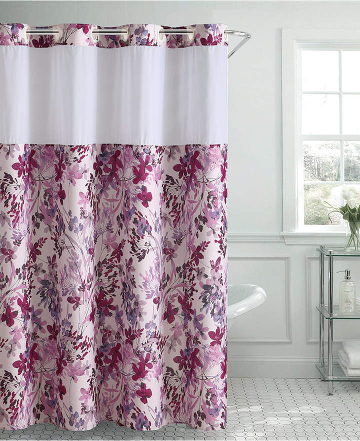 Hookless Water Color Floral 3 In 1 Shower Curtain Bedding Floral