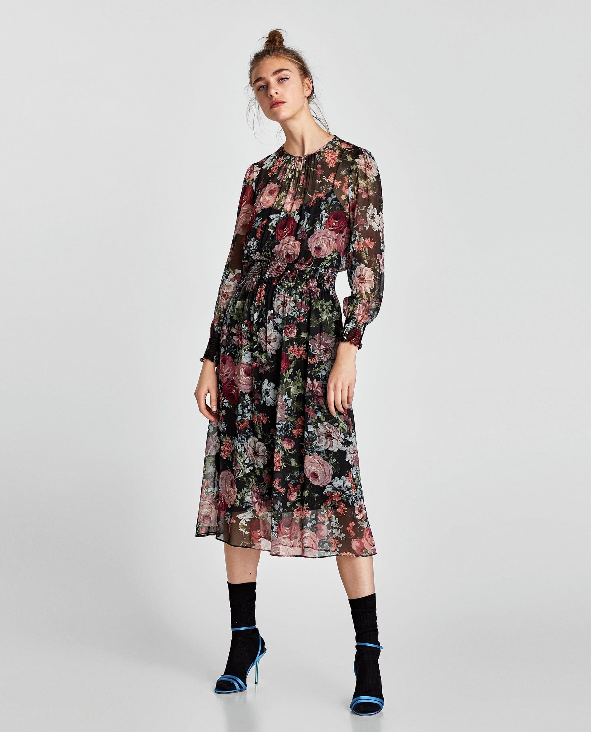 Vestido Midi Estampado Winter Dress Outfits Midi Dress Winter Dresses