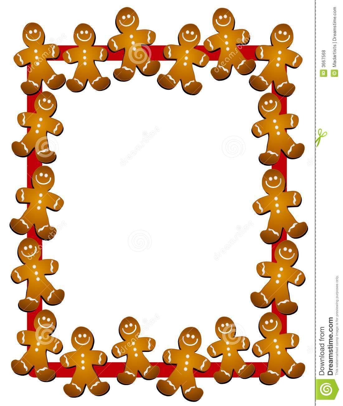 Christmas Clip Art Borders And Frames Cookies Christmas Border