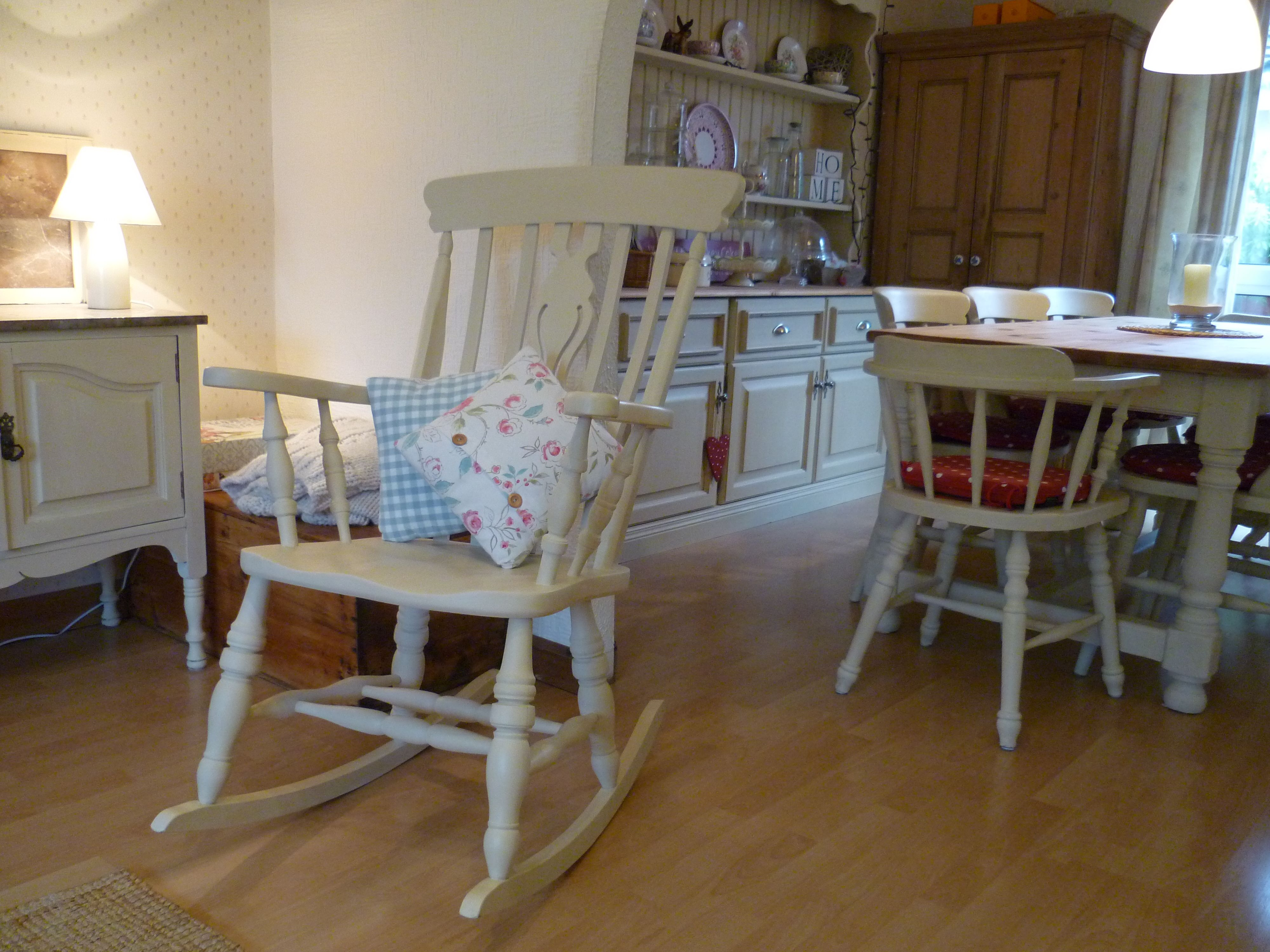 Shabby chic painted rocking chairs - Shabby Chic Painted Rocking Chair