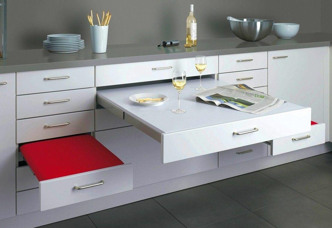 Pull Out Kitchen Table  Kleine küche einrichten, Kleine küche