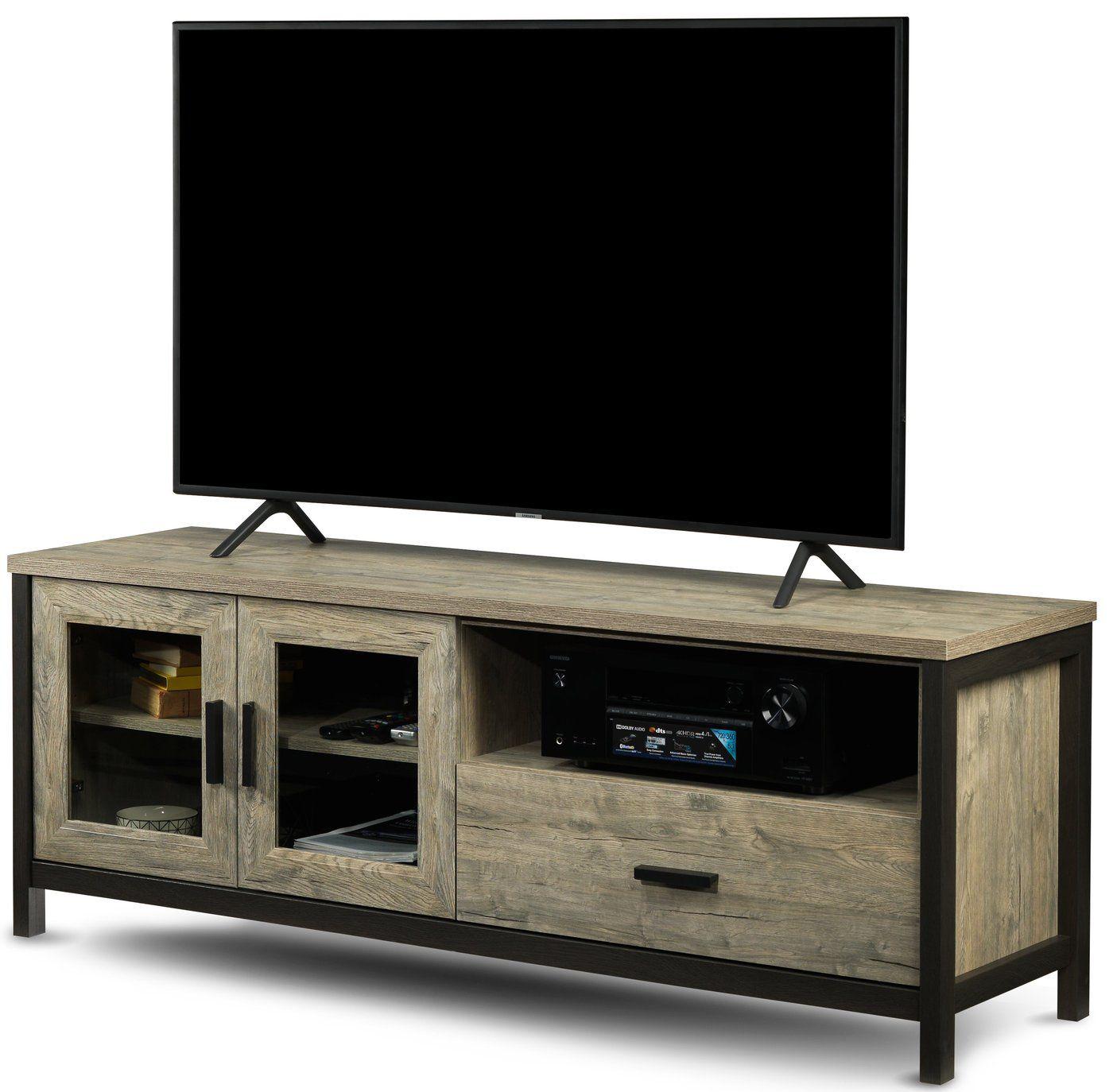 Gibson Tv Stand Driftwood En 2020