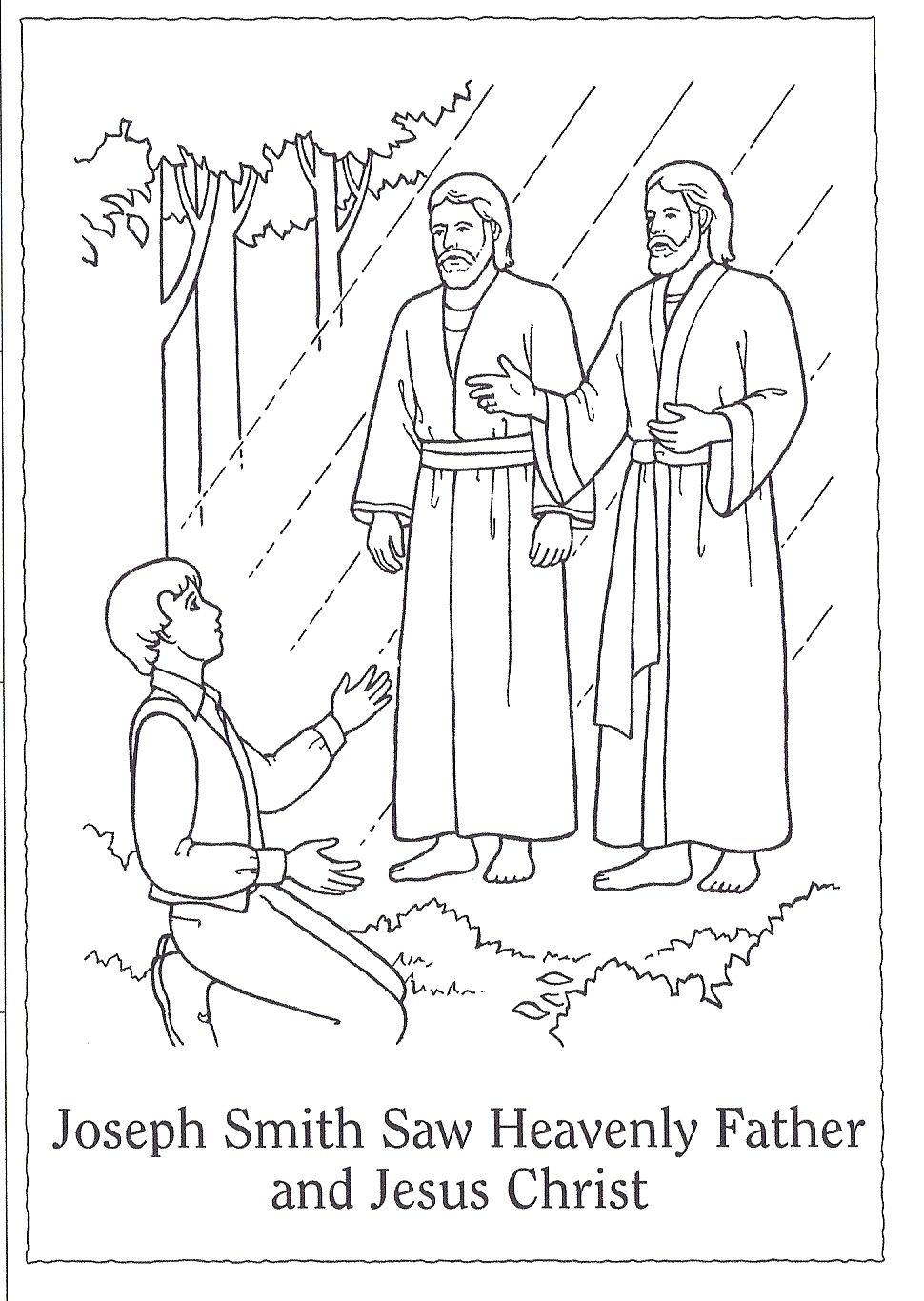 joseph smith first vision coloring page the first vision