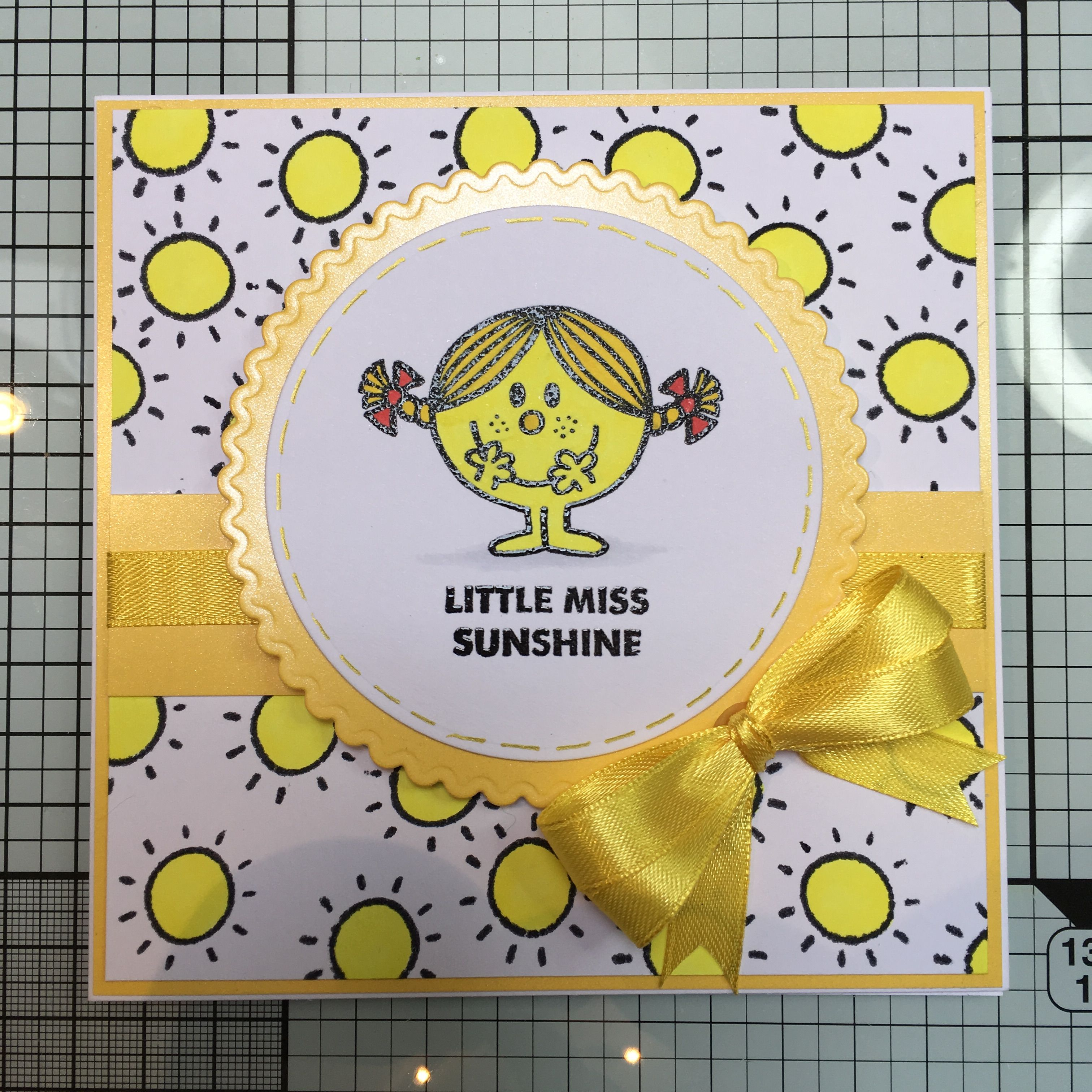 Little Miss And Mr Men Stamps Coloured With Copics Cards Handmade Little Miss Sunshine Cards