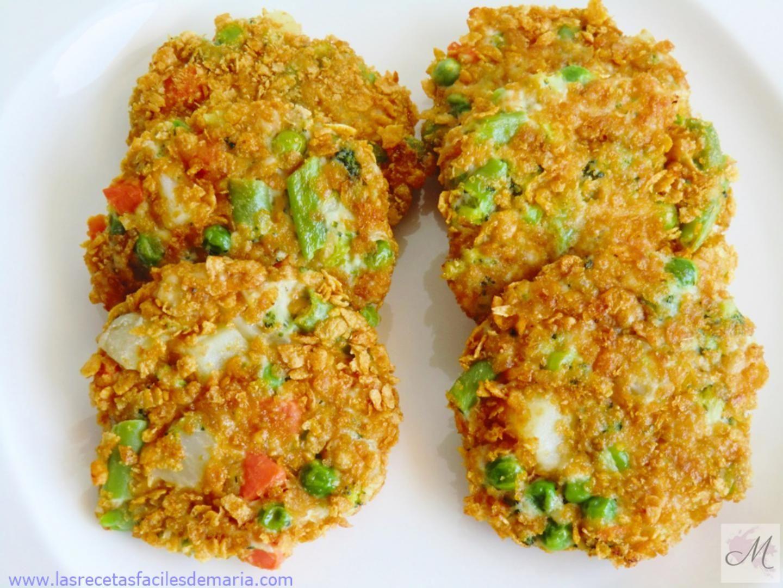 Tortitas De Verduras Y Pollo Crujientes Sin Gluten Las Recetas  ~ Recetas Faciles Y Bajas En Calorias