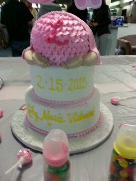 Cake for baby shower for Lily