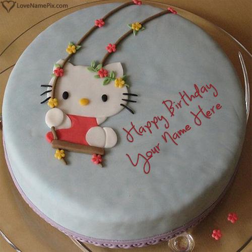 Hello Kitty Birthday Cake For Girls Name Generator