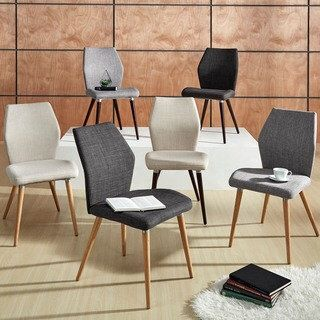 Superieur Abelone Contour Upholstered Dining Chairs (Set Of 2) INSPIRE Q Modern By  INSPIRE Q