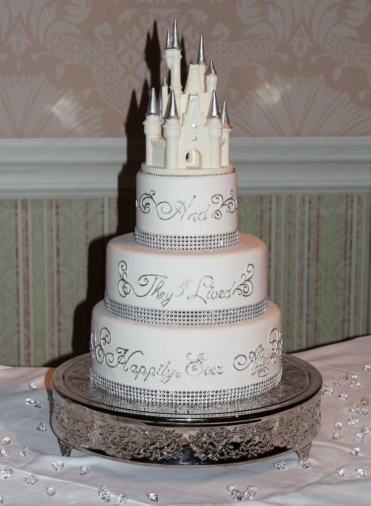 Disney engagement cake 736px Wedding Ideas Pinterest