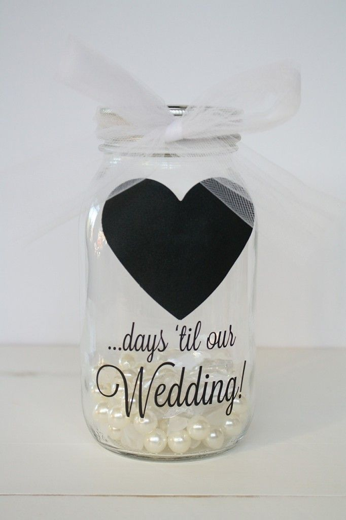pinterest mason jar bridal shower favors%0A DIY Mason Jar Wedding Countdown Calendar  a thrifty and cute way to count  down to