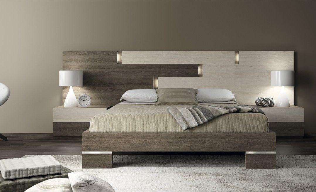 Dormitorio de matrimonio en colores base (no lacados) compuesto por ...