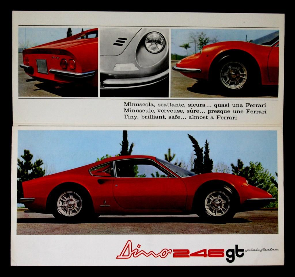 Dino Gt Sale Brochure  Old Car Brochures