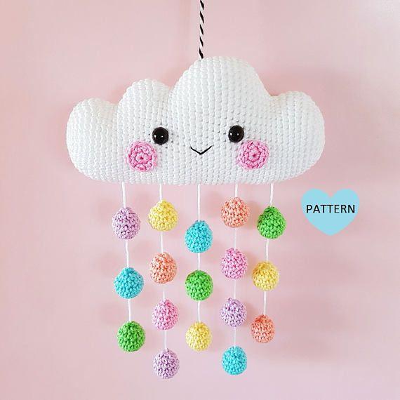 Cloud Mobile PDF Pattern, crochet, amigurumi | Pinterest | Patrones ...