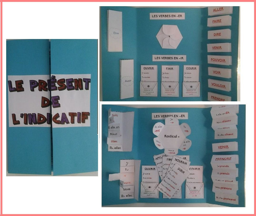 Lapbook Le Present Conjugaison Cm2 Conjugaison Ce2 Classe Ce1