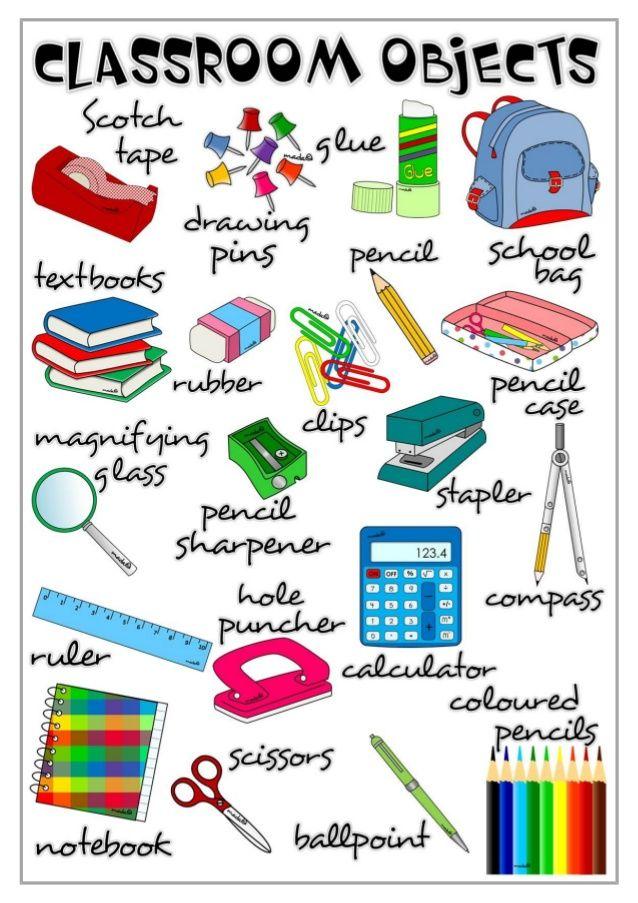 Classroom Objects Vocabulary Buscar Con Google