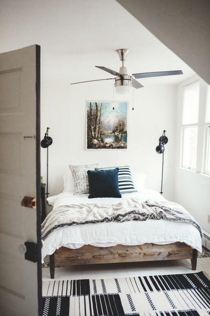Modernes Schlafzimmer gestalten 107 Ideen mit rustikalem Flair