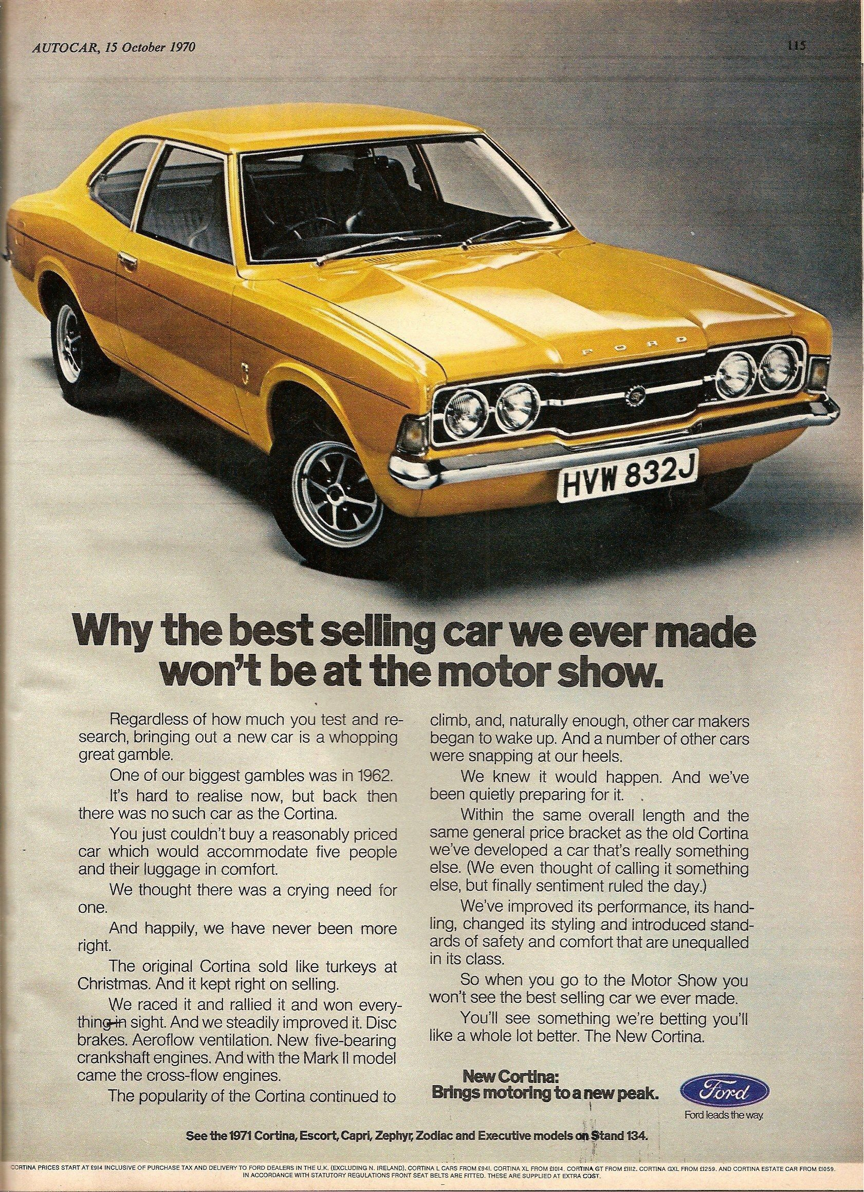 Ford Cortina Mk 3 Advert From 1971 Fordclassiccars Ford Classic Cars Car Ford Car