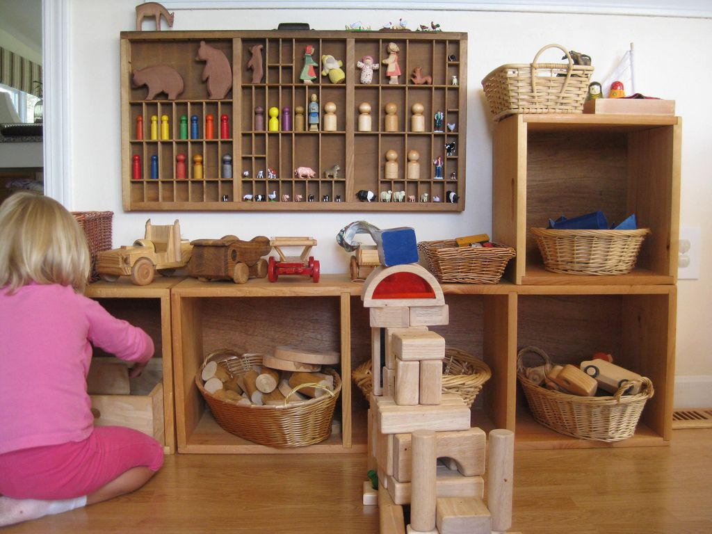 Toy Storage Child Room Waldorf Toys Playroom