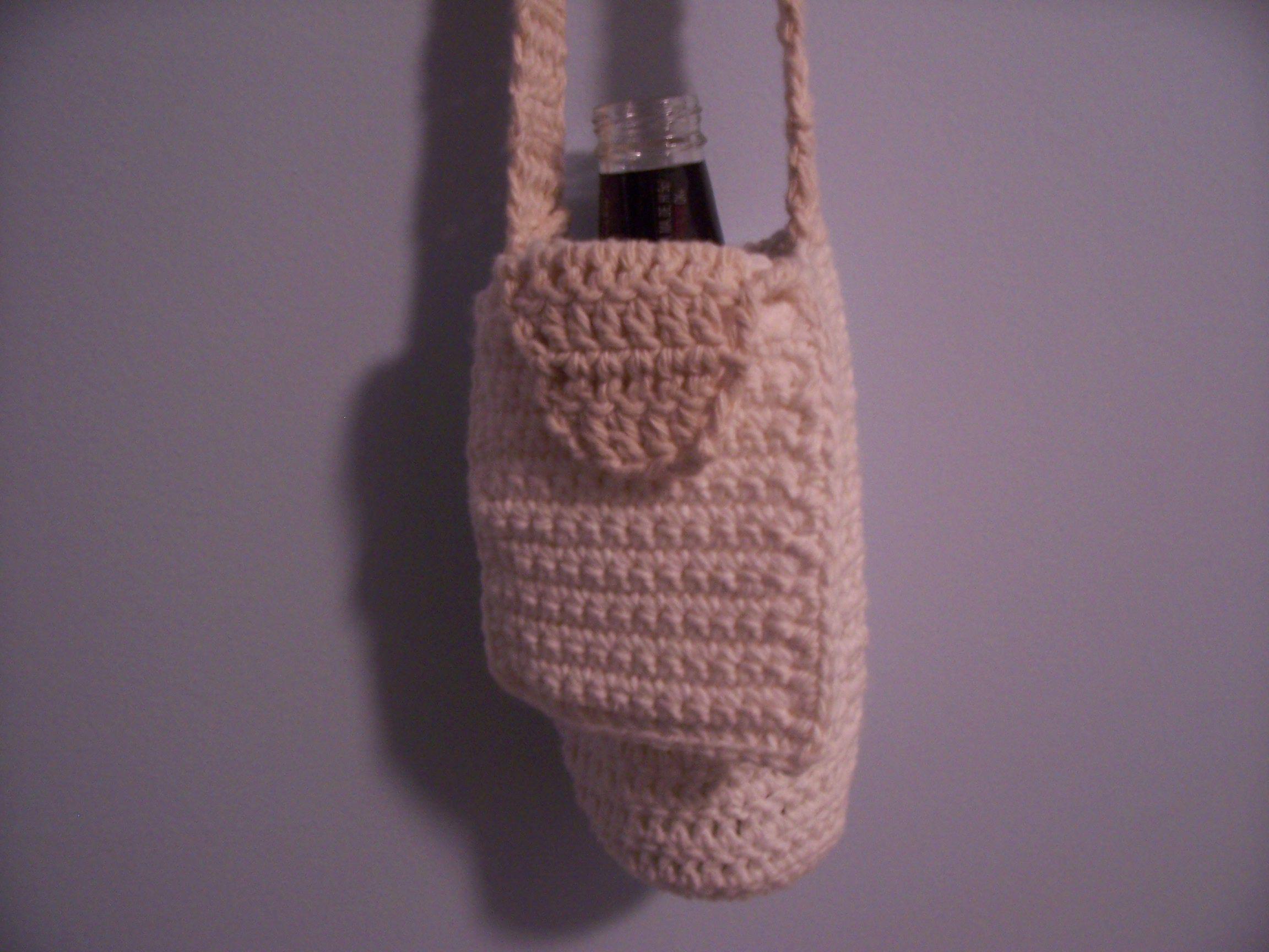 Crochet water bottle holder pattern free patterns crochet hook hounds to go free water bottle carrier crochet pattern bankloansurffo Choice Image
