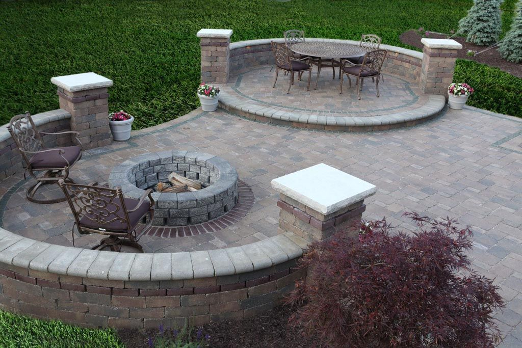 Creative Of Paver Patio With Fire Pit Ideas Brick Fire Pit Ideas