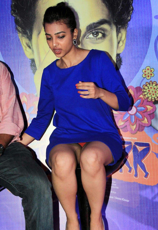 Radhika Apte Upskirt And Orange Panty Show Stage