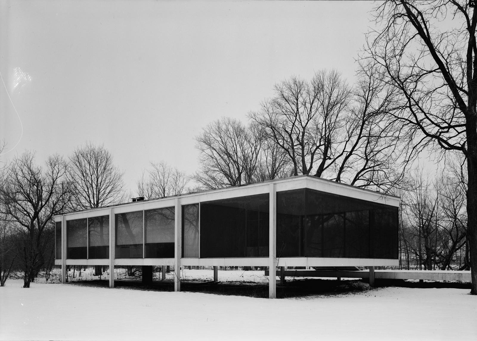 Casa Farnsworth 19451950 Implantao em 1946 Mies Van Der
