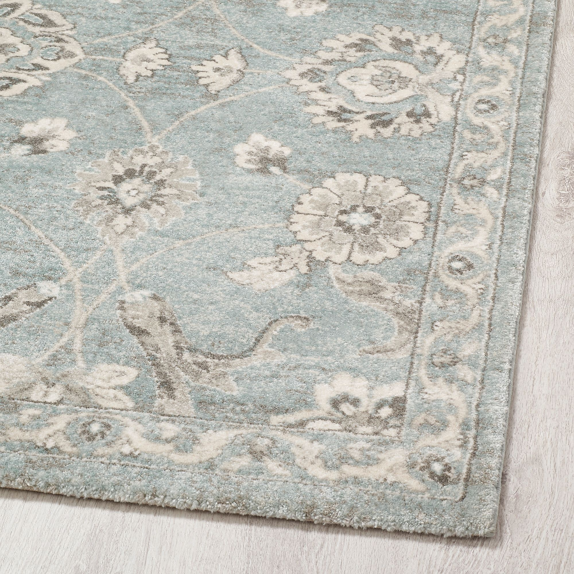Ringive Rug Low Pile Blue 6 7 X9