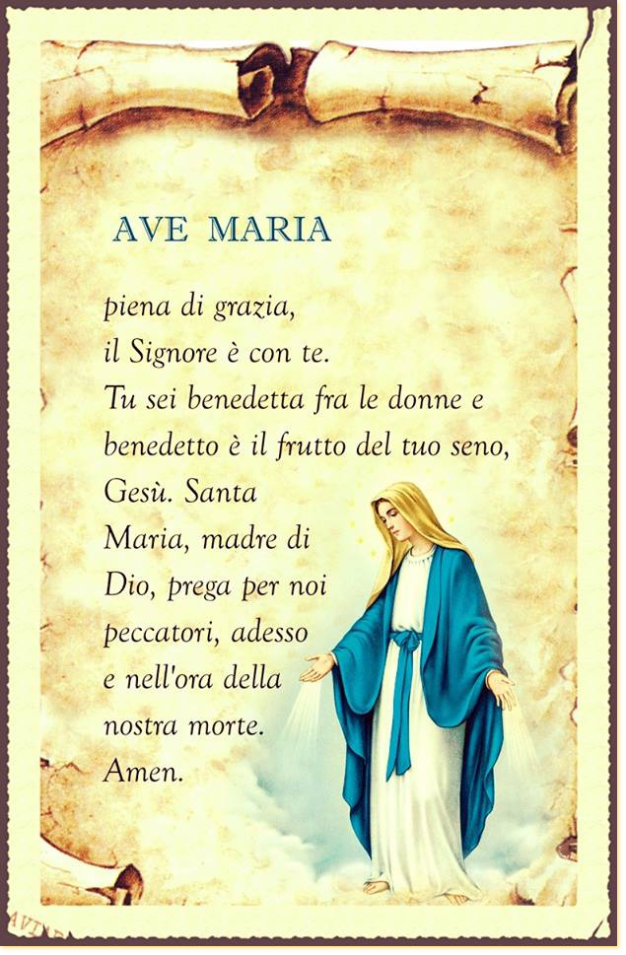 Have Ave maria prayer english answer
