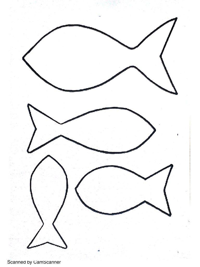 Dessin Gabarit Poissons à Imprimer Modèle De Poisson